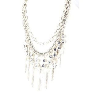 Multi chain silver chandelier necklace,NWT